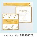 luxury wedding invitation... | Shutterstock .eps vector #732590821