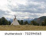 native american tee pee... | Shutterstock . vector #732594565