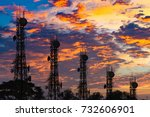 silhouette of the antenna of