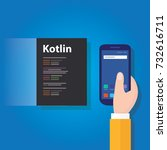 kotlin mobile application... | Shutterstock .eps vector #732616711