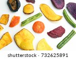 colorful vegetable chips | Shutterstock . vector #732625891