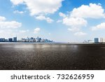 empty asphalt road and... | Shutterstock . vector #732626959