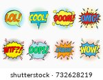 comic speech bubbles set with... | Shutterstock .eps vector #732628219
