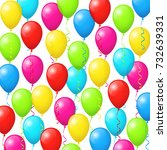 colorful balloons background | Shutterstock .eps vector #732639331