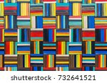 background of ceramic mosaic. a ... | Shutterstock . vector #732641521