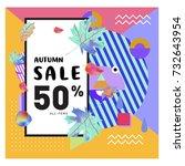 autumn sale memphis style web... | Shutterstock .eps vector #732643954