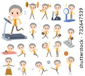 set of various poses of short