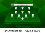 football league or world... | Shutterstock .eps vector #732654691