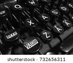 "Small photo of Finnish vintage typewriter including uppercase ""Vaihto"" (Shift), ""Lukko"" (Caps Lock), letter Å with ring, letter Ä with diaeresis, and ASDF keys."