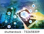 ai artificial intelligence  and ... | Shutterstock . vector #732658309