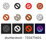 prohibition icon vector isolated | Shutterstock .eps vector #732675601