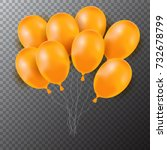 3d realistic colorful balloons. ... | Shutterstock .eps vector #732678799