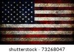 damaged american flag... | Shutterstock . vector #73268047