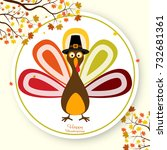 happy thanksgiving day... | Shutterstock .eps vector #732681361