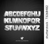 3d alphabet. metal letter.... | Shutterstock .eps vector #73268482