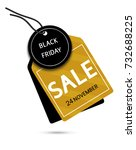 black friday sale paper tag... | Shutterstock .eps vector #732688225