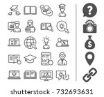 education line icons. set of... | Shutterstock .eps vector #732693631