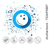 button on circles background....   Shutterstock .eps vector #732695887