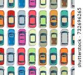urban cars seamless texture.... | Shutterstock .eps vector #732696265