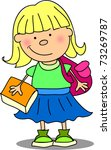 cute  schoolgirl | Shutterstock .eps vector #73269787
