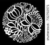 beautiful monochrome black and... | Shutterstock . vector #732702571