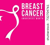 background for breast cancer... | Shutterstock .eps vector #732704761