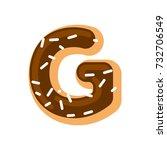 Letter G Donut Font. Doughnut...