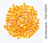 Candy Corn In Ceramic Pumpkin...