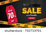 black friday sale black and... | Shutterstock .eps vector #732713701