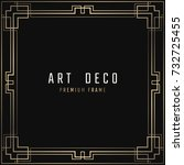 vector card. art deco style.... | Shutterstock .eps vector #732725455