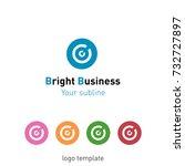 creative abstract logo design... | Shutterstock .eps vector #732727897