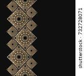 golden frame in oriental style. ... | Shutterstock .eps vector #732728071