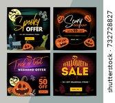 set of creative social media... | Shutterstock .eps vector #732728827