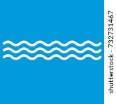 blue wave pattern background... | Shutterstock . vector #732731467