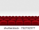 empty movie theater auditorium... | Shutterstock .eps vector #732732577