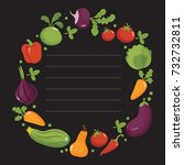 vegetables poster in round... | Shutterstock .eps vector #732732811