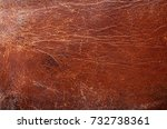 old shabby brown leather...   Shutterstock . vector #732738361