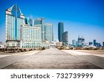 waitan building in shanghai.... | Shutterstock . vector #732739999