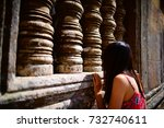 looking into the cambodia...   Shutterstock . vector #732740611