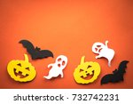 halloween holiday background... | Shutterstock . vector #732742231