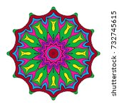 decorative mandala. vector... | Shutterstock .eps vector #732745615