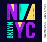 new york city typography design ... | Shutterstock .eps vector #732747484