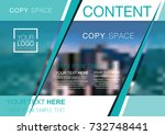 presentation layout design... | Shutterstock .eps vector #732748441