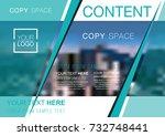 presentation layout design... | Shutterstock .eps vector #732748441