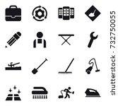 16 vector icon set   portfolio  ... | Shutterstock .eps vector #732750055