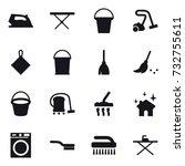 16 vector icon set   iron  iron ... | Shutterstock .eps vector #732755611