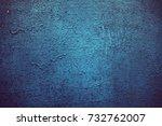 blue paint metal plate texture...   Shutterstock . vector #732762007