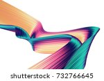 3d render abstract background.... | Shutterstock . vector #732766645