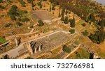 aerial bird's eye view photo... | Shutterstock . vector #732766981