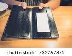 customers get bill and receipt...   Shutterstock . vector #732767875
